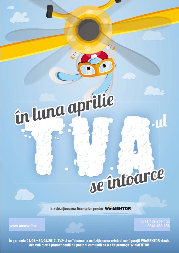 In luna aprilie TVA-ul se intoarce la achizitionarea licentelor pentru WinMENTOR